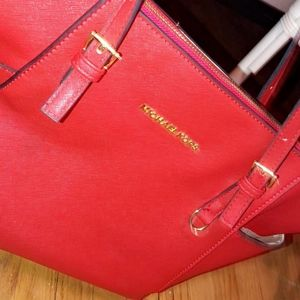 Michael Kors Saffiano Leather Tote Bag  ☆MINT!